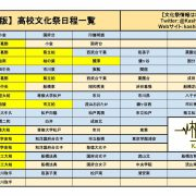 【2017年度版】 高校文化祭日程OGP