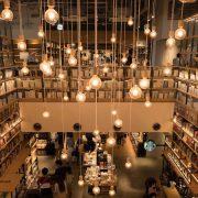 柏の葉蔦屋書店の内装